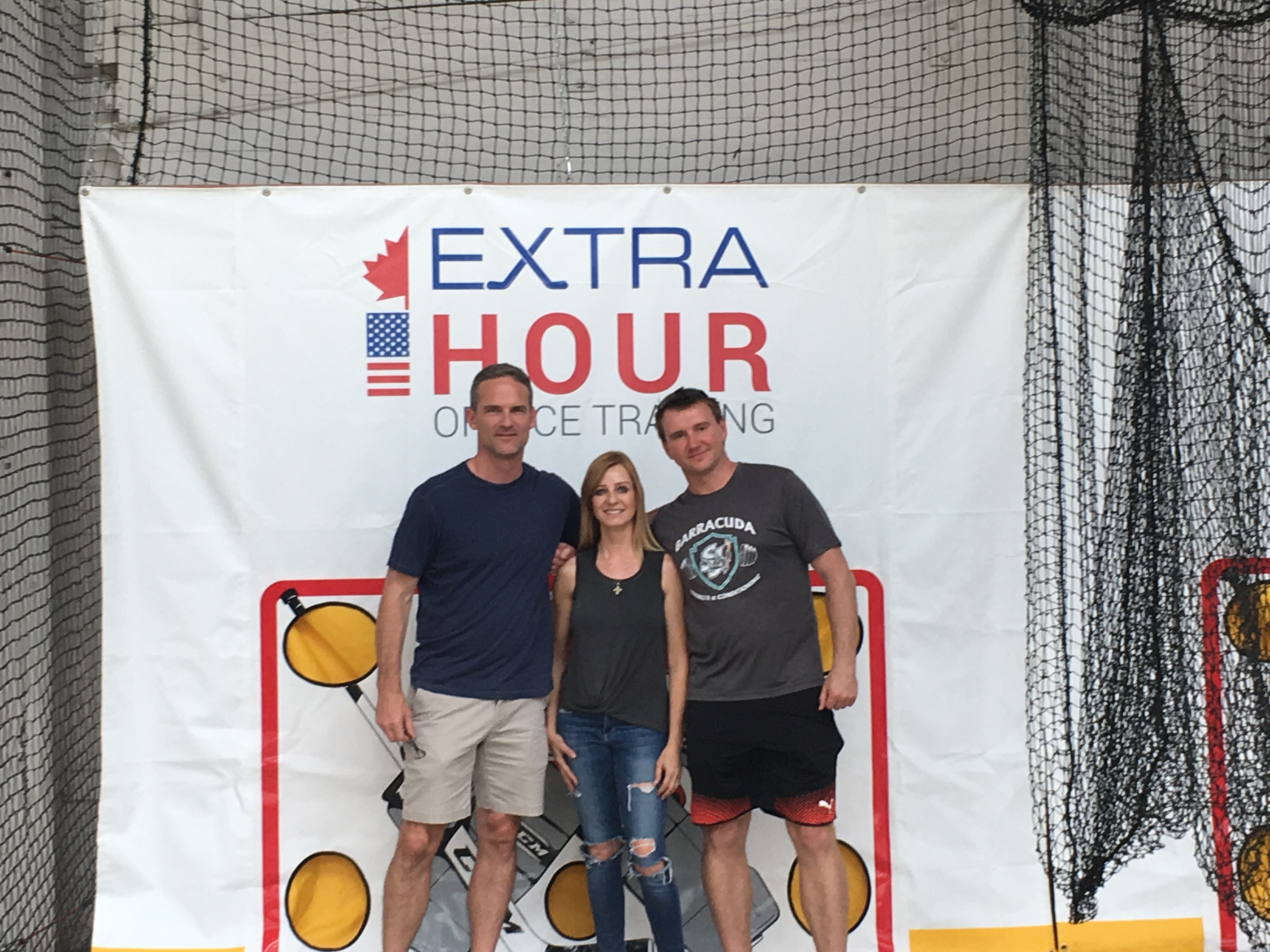 Rob Zettler, Nabby and Cathy Andrade at Extra Hour