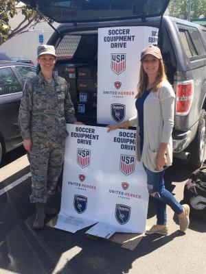 United Heroes League sports equipment drive